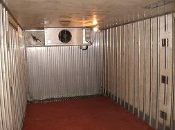 冷凍倉庫内部